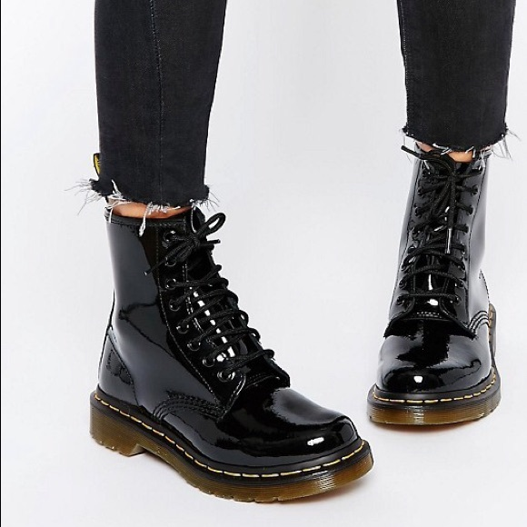 aa5623402a2 Women's 1460 Black Patent Leather Doc Martens